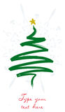 Christmas greeting card with vertical tree Stock Images