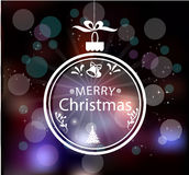 Christmas Greeting Card. Vintage card with Royalty Free Stock Photo
