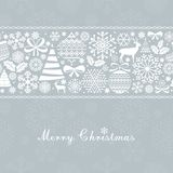 Christmas Greeting Card. Vintage Christmas and  New Year elements Royalty Free Stock Photos