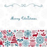 Christmas Greeting Card. Vintage Christmas and New Year elements Stock Photos