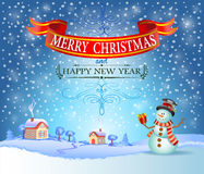 Christmas greeting card in vintage style Royalty Free Stock Image