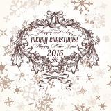 Christmas greeting card in vintage style Stock Photo
