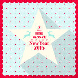 Christmas greeting card with white star Stock Images