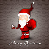 Christmas greeting card whith cute Santa Claus Royalty Free Stock Photos