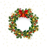 Christmas greeting card wreath, christmas deko in white background Stock Photos