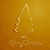 Christmas greeting card with yellow background Stock Image