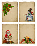 Christmas greeting cards Royalty Free Stock Images