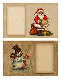 Christmas greeting cards. Set of christmas greeting cards Stock Images