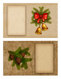 Christmas greeting cards. Set of christmas greeting cards Royalty Free Stock Photo