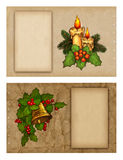 Christmas greeting cards. Set of christmas greeting cards Royalty Free Stock Images
