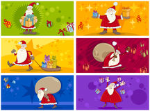 Christmas greeting cards collection Stock Image