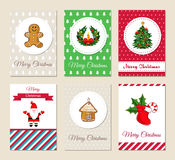 Christmas Greeting Cards and Invitations Set Royalty Free Stock Photography