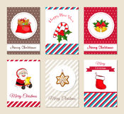 Christmas Greeting Cards and Invitations Set Royalty Free Stock Images