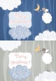 Christmas greeting cards Royalty Free Stock Photos