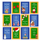 Christmas Greeting Cards Royalty Free Stock Photography