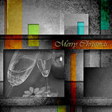 Christmas greeting with champagne toast Stock Images