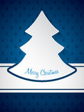 Christmas greeting with christmastree pattern background Stock Image