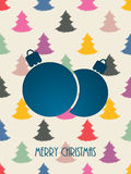 Christmas greeting with color scribbled christmastree background Stock Photos