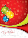 Christmas greeting with decorations Royalty Free Stock Photography