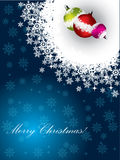 Christmas greeting with decorations Royalty Free Stock Images