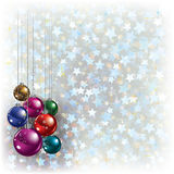 Christmas greeting with decorations Stock Images
