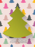 Christmas greeting with decorative background Stock Photos