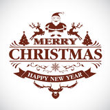 Christmas greeting decorative emblem. Vector in eps10 Royalty Free Stock Photos