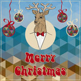 Christmas greeting with a deer Stock Photo