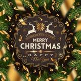 Christmas greeting design Royalty Free Stock Photography