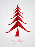 Christmas greeting design with origami tree Stock Image