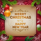 Christmas Greeting Design Royalty Free Stock Images