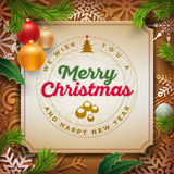 Christmas Greeting Design Stock Photography