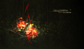 Christmas Greeting with Faded Globes Royalty Free Stock Images