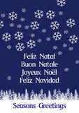 Christmas Greeting Five languages Stock Images