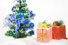 Christmas greeting gifts Royalty Free Stock Photo