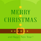 Christmas greeting with green elf costume Royalty Free Stock Photo