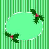 Of Christmas greeting green stripes Stock Photography