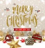 Christmas greeting illustration Royalty Free Stock Photos