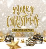 Christmas greeting illustration Royalty Free Stock Image