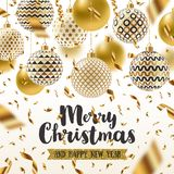 Christmas greeting illustration Stock Image