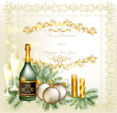 Christmas greeting and invitation card Royalty Free Stock Photography