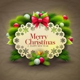 Christmas Greeting Royalty Free Stock Photography
