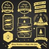 Christmas Greeting Label Premium Design Stock Photography