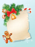 Christmas greeting magic scroll from Santa Claus Royalty Free Stock Image