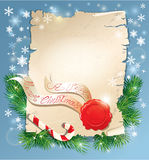Christmas greeting magic scroll with wax seal of S Stock Photos