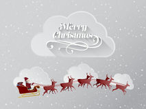 Christmas greeting message with flying santa Royalty Free Stock Photography