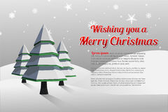 Christmas greeting message with illustrations Royalty Free Stock Photos