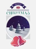 Christmas greeting message with illustrations Royalty Free Stock Images
