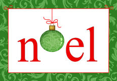 Christmas Greeting Noel Royalty Free Stock Image