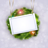 Christmas Greeting Notice Royalty Free Stock Photography